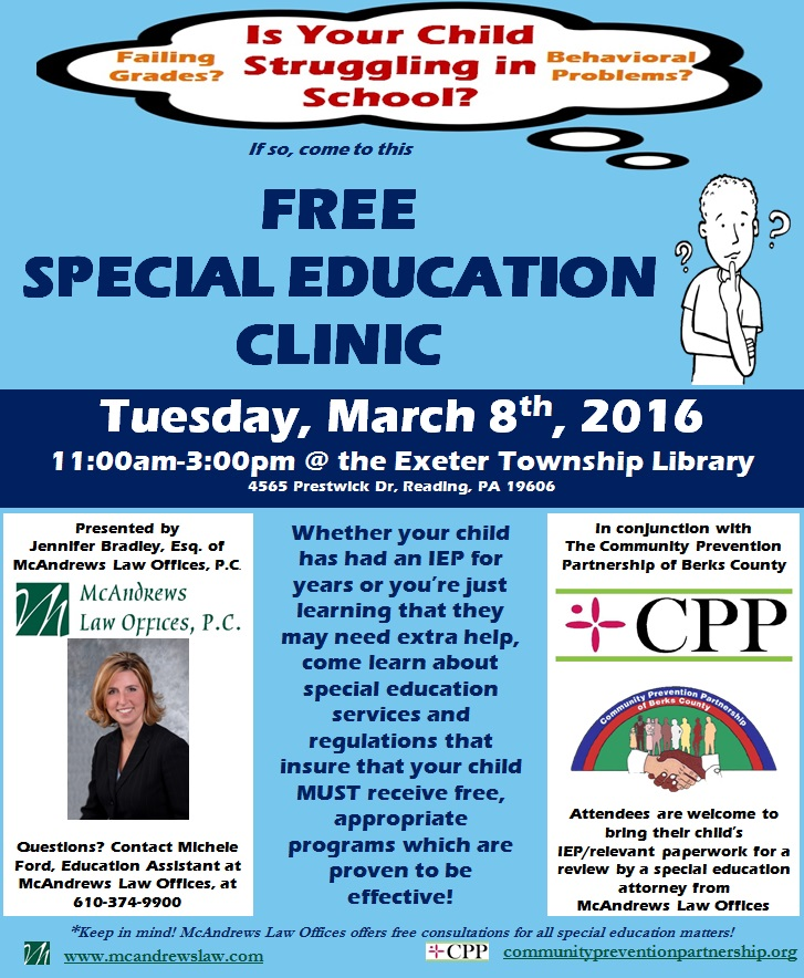 IEP Clinic Exeter Township Library
